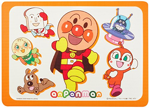 Wise Anpanman half mat (bath mat) 42.5 x 60cm (japan import)