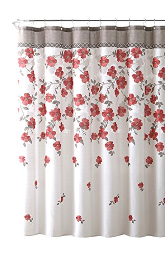 red and white shower curtain - 6