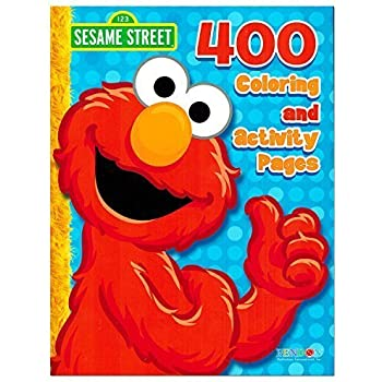 sesame street elmo coloring book jumbo 400 pages featuring elmo cookie monster big bird and more