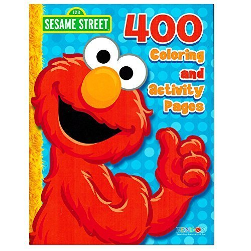 Sesame Street Elmo Coloring Book Jumbo 448 Pages-With Stickers-Featuring Elmo, Cookie Monster, Big Bird and (Sesame Street Activity Book)