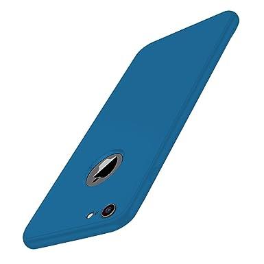 Qissy Carcasa iPhone 6s, 360 Todo Incluido Silicona Flexible Anti-Scratch Anti-Huella Dactilar a Prueba de Choque Suave Protective Case Cover para ...