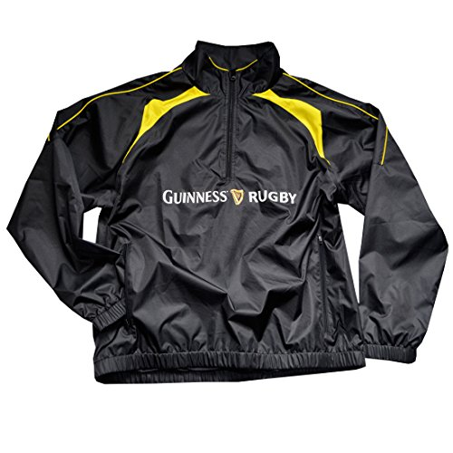 - Guinness Black and Yellow Rugby Performance 1/2 Zip Top Pullover (XXLarge)