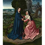 Canvas Prints Of Oil Painting 'Workshop Of The Master Of 1518 The Visitation Of The Virgin To Saint Elizabeth' 20 x 23 inch / 51 x 59 cm , Polyster Canvas, Hallway, Home Theater And Study R decoration