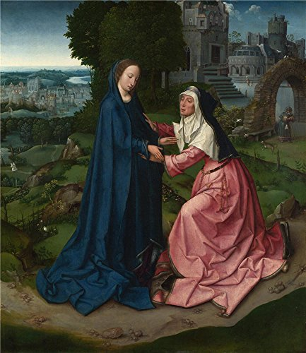 'Workshop Of The Master Of 1518 The Visitation Of The Virgin To Saint Elizabeth ' Oil Painting, 10 X 12 Inch / 25 X 29 Cm ,printed On Polyster Canvas ,this Vivid Art Decorative Canvas Prints Is Perfectly Suitalbe For Dining Room Decor And Home Decor And Gifts