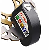 Racing 1 Alarm Disc Brake Lock - Anti-theft for Motorcycles, Motorbikes 110dB Alarm Sound Plus 1.5m Reminder Cable for Motorcycles (Black)