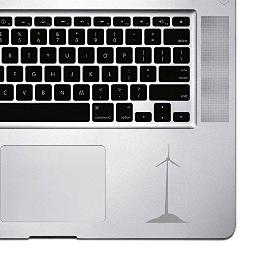 StickAny Palm Series Single Windmill Sticker for Macbook Pro, Chromebook, and Laptops (Silver)