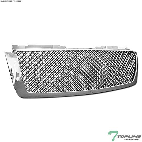 - Topline Autopart Chrome Mesh Front Hood Bumper Grill Grille ABS For 07-14 Chevy Tahoe/Suburban/Avalanche
