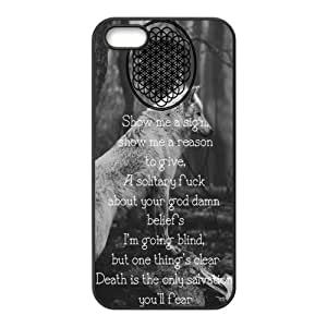Snap-on TPU Rubber Coated Case Compatible with iPhone 5 / 5S Covers [BMTH Bring Me to the Horizon]