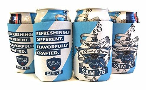 (Samuel Adams SAM '76 Bottle Can Cooler Insulator - 4 Pack)
