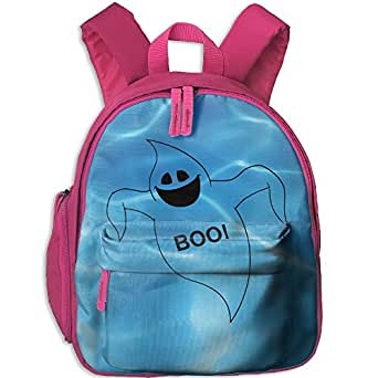 Small School Daypack Creating With Boo Halloween For Kindergarten Unisex Kids Pink
