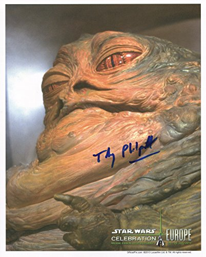 Toby Philpott Signed / Autographed Starwars Photo of Jabba the Hutt 8x10 Glossy Photo Includes Official Pix Certification and Cataloged Number. Entertainment Autograph Original. Return of the - Number Hut 8