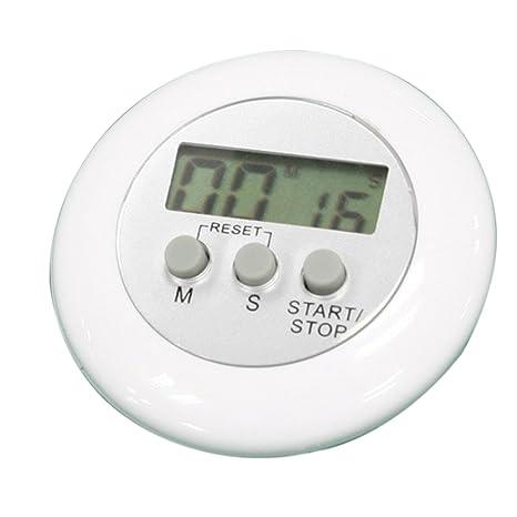 PIXNOR Mini LCD digital temporizador de cocina cuenta Up temporizador alarma reloj