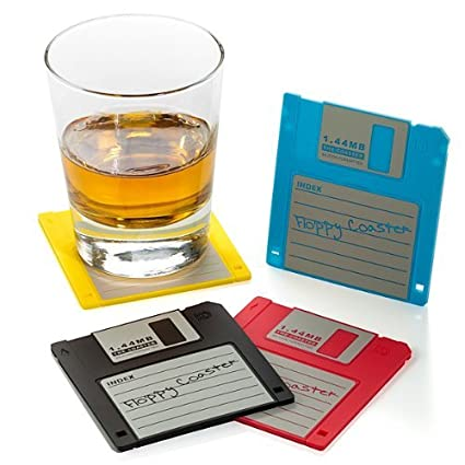 Floppy Disk Drink Coasters  sc 1 st  Amazon.com & Amazon.com: Floppy Disk Drink Coasters: Home \u0026 Kitchen