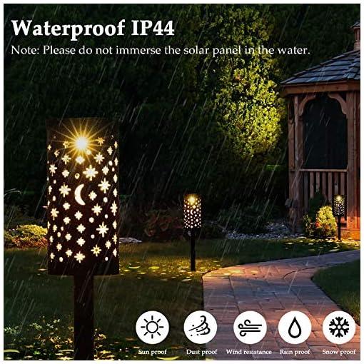 Lampada Solare Giardino Esterno Golwof 6 Pezzi Luce Solare Giardino LED Impermeabile Luci Solari Esterno Giardino Decorative Illuminazione Solare per Cortile Terrazzo Villa Vialetti Vacanza Natale