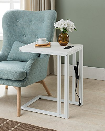 One Source Living RH 170213 WH Soho C Table Side, White