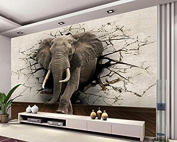 Yosot 3D Tapete Elefanten Wandbild Tv Wand Hintergrund Wand ...