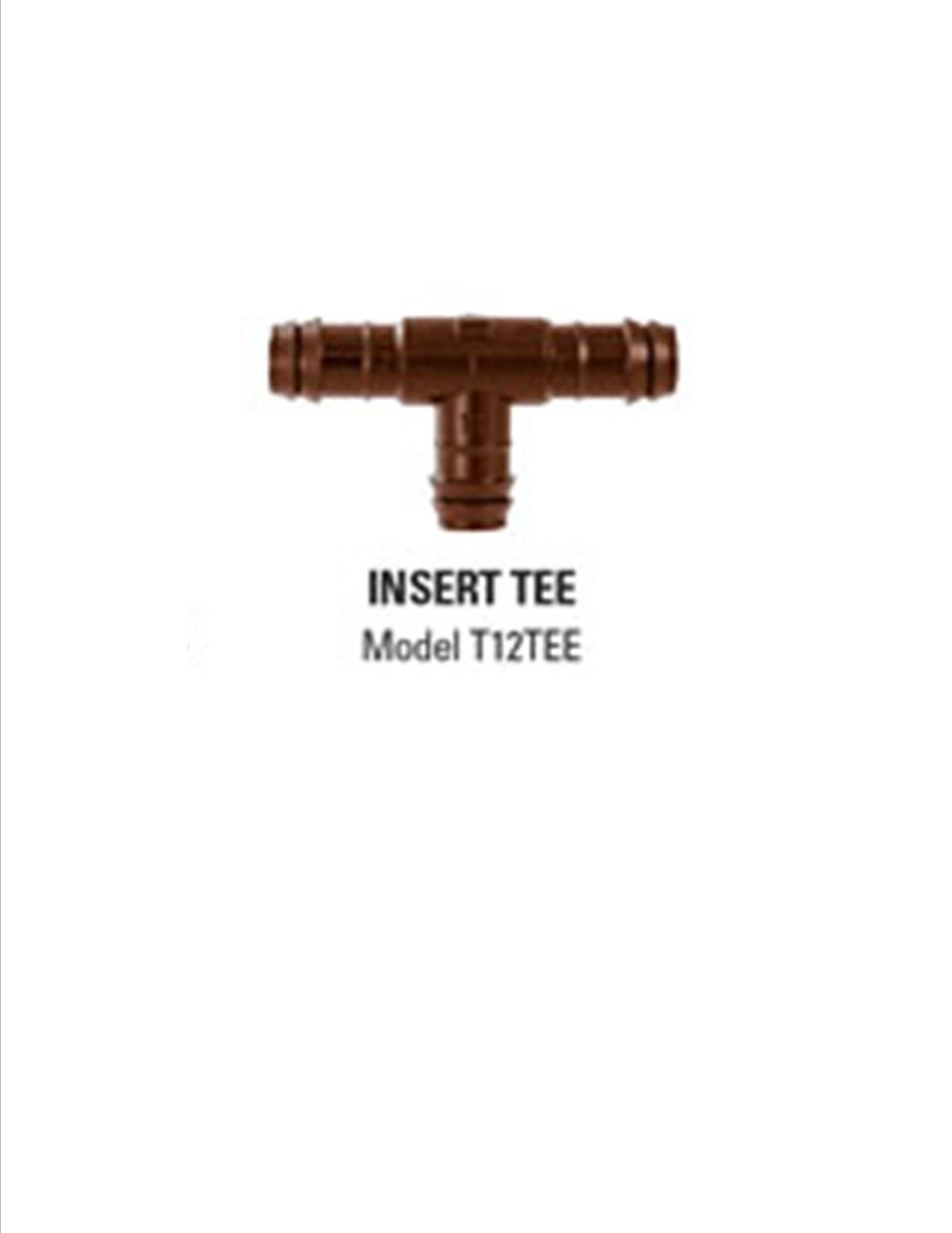 12mm Insert Tee - 10 per package by Netafim