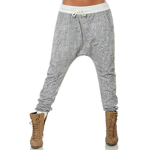 Donna Forti Mambain Pantalone Grigio Da Svago Pantaloni kz1 baggy taglie qBSStZTngw