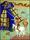 """DON QUIXOTE""Spanish""Encanto""Tapestry,15.5'' X 20.5"",Original Mid-Century Modern, c.1965,100% Virgin Wool Felt,Mint Condition."