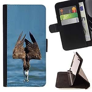 Momo Phone Case / Flip Funda de Cuero Case Cover - Summer Sea proie Oiseau - Sony Xperia Z5 Compact Z5 Mini (Not for Normal Z5)