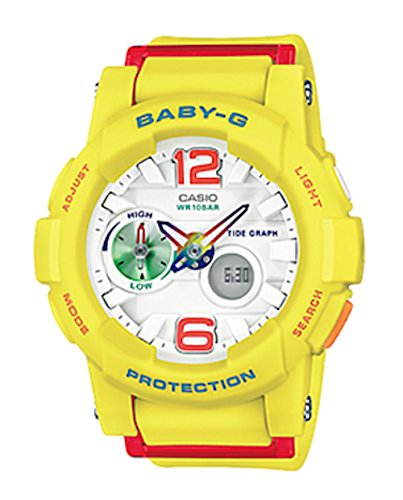 Casio 2018 BGA180-9BCR Watch Baby-G G-Lide Ana-Digital Yell (Baby G Shock Watches Women Red)