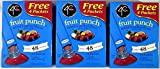 4C Totally Light 2 Go Fruit Punch, Sugar Free, 24 Count Boxes (Pack of 3)