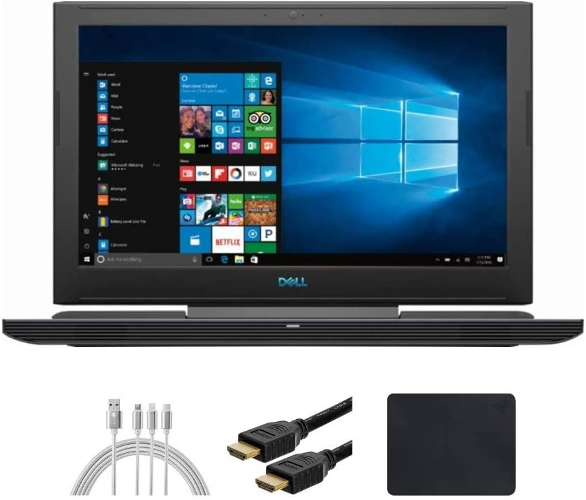 "New_Dell_G7 15.6"" UHD (3840x2160) OLED 60Hz 400-Nits Gaming Laptop, i9-9880H, RTX 2080 8G GDDR6 with Max-Q, 16GB RAM, 512GB SSD, Backlit Keyboard, 90WHr, 6-Cell Battery, Win 10 w/ Santax Accessories"