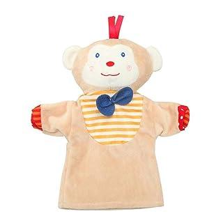 Peluche mano bambola fantoccio tessuto morbido e confortevole peluche mano animale cartone animato guanti educativi interazione padre-figlio (anatra, scimmia bambino, rana) Poetryer