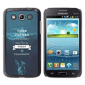 A-type Arte & diseño plástico duro Fundas Cover Cubre Hard Case Cover para Samsung Galaxy Win I8550 (Tu futuro)