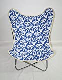 Classic Butterfly Chair Cover Handmade Kantha Quilted Garden Butterfly Chair Cover With Chair Frame