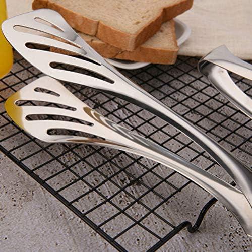 BESTONZON Pince à Servir en Acier Inoxydable pour Les salades Barbecue Toast Pain Sandwich