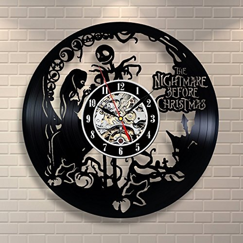 The Nightmare Before Christmas Vinyl Record Wall Clock - Dec