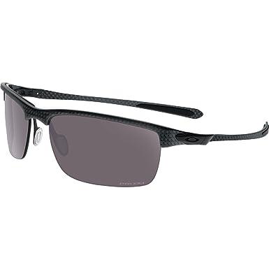 054d1687c110 Oakley Men's Carbon Blade OO9174-07 Polarized Rectangular Sunglasses,  Carbon Fiber, ...