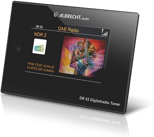 Albrecht Dr53 Dab Ukw Digitalradio Tuner 27251 Mit 4 Farbdisplay Zum Anschluss An Die Stereoanlage Inkl Fernbedienung Heimkino Tv Video
