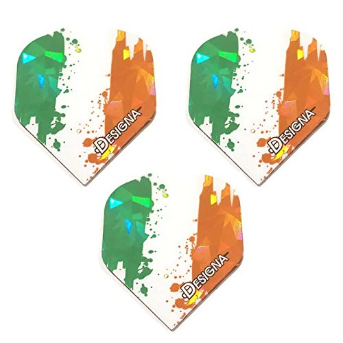 Designa 3 Pack Holographic Ireland Fighting Irish 75 Micron Strong Standard Dart Flights (The Origin Of Halloween Samhain)