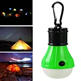 LED Solar Bulb,Portable Led Camping Lantern Lights,Fish Battery Light,Dimmable Tent Light,Detachable Flashlight for Home, Car, Outdoor, Hiking, Emergency and More (2.04 2.04 4.25in, Green)