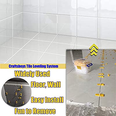 Lippage Free Tile and Stone Installation for PRO and DIY-Total 400 pcs Tile Leveling System-Tiles Leveler Spacers-100pcs Reusable Wedges Plus 300pcs Leveling Spacer Clips 1//8 Inch