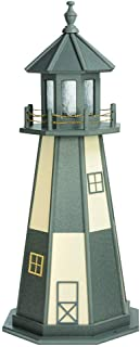 product image for DutchCrafters Decorative Lighthouse - Wood, Cape Henry Style (Dark Grey/Ivory, 4)