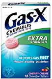 Gas-X Chewables Extra Strength Cherry Creme Tablets 48 ea (Pack of 10)