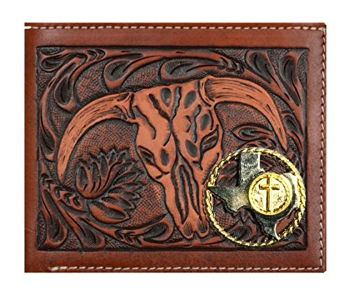 Texas Long Short Brown Checkbook Belt Tan Cow Custom Rodeo Rope and Wallet Cross Skull New Company 3D and wgC8PqTIg