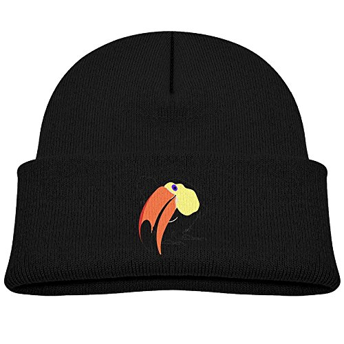 Children's 4 Colors Knitting Caps Funny Winter Funny Curious Toucan Animal Wild Bird (Toucan Beak Costume)