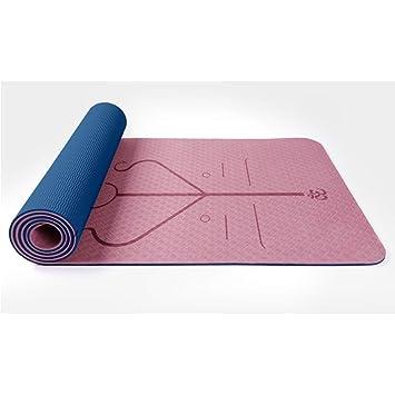 AIMERDAY Tapis de Gymnastique antid/érapant pour Tapis de Yoga pour Yoga Chaud Pilates Exercise 6mm