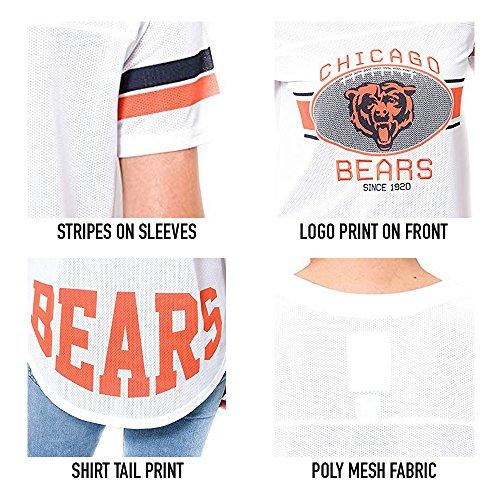 Ultra Game NFL Women's Soft Mesh Jersey Varsity Tee Shirt