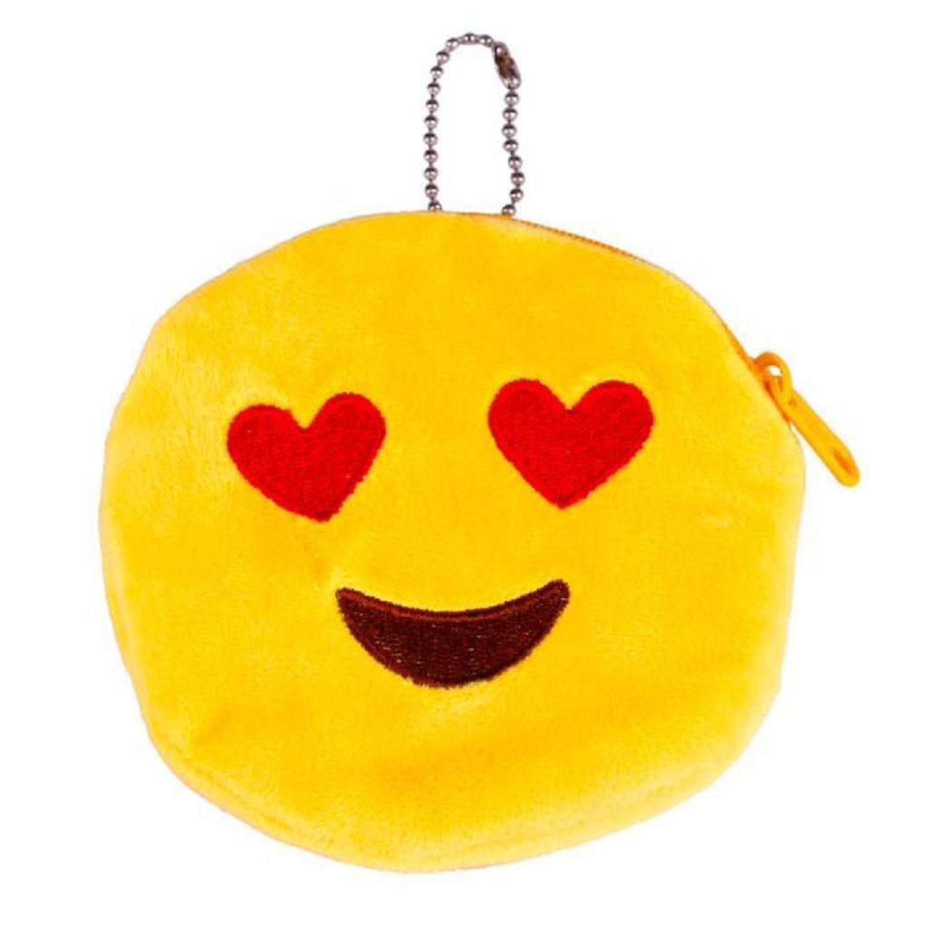Emoji Emoticono Mini bolsa Sannysis Monedero del bolso de la caja, 10*10cm (