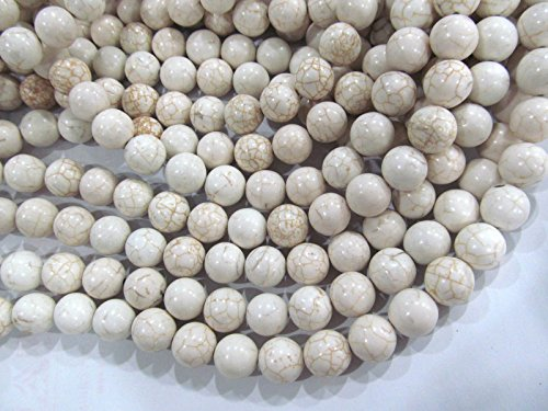 (turquoise beads 5strands 12mm Turquoise stone Round Ball white yellow oranger assortment loose)