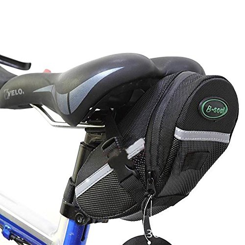 OuTera Bike Saddle Bag Bike Seat Bag Bicycle Seat Pack Cycling Seat Bag Bontrager Seat Pack Strap-on Bag for Your Spare Tube Tire Removal Wedges and Bontrager Torx Wrench Set[1 Year Warranty] (Cycling Bag)