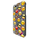 c00933 - Smiley Emoji Funny Heart Love Sunglasses Shit Poop Laughter Faces App Design For iphone SE / iphone 5 5S Fashion Trend CASE Protective Cover Liquid Floating Luxury Bling Glitter star Sparkle Case -Clear&Silver