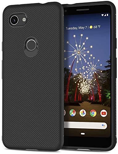 SunRemex Carbon Fiber Designed for Google Pixel 3a Case, Pixel 3a Case, Scratch Resistant & Anti Slip Grippy Soft TPU Case for Google Pixel 3a Phone (Black)