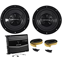 Kenwood P-W1220 Package of: Kenwood KAC-5206 400 Watts Peak/120 Watt RMS 2-Channel Car Amplifier + (2) KFC-W112S 12 800 Watts Peak/200 Watts RMS 8-Ohm Car Subwoofers