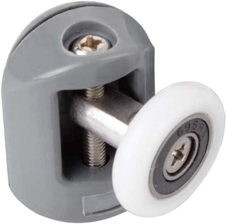 cococity Set di 8 Ruote Di Scorrimento Porta Rulli 23 mm Roller Ruota della roulette Cabina Bagno